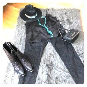 Rock n Roll Cowgirl Black Leopard Jeans  NWT 34x34